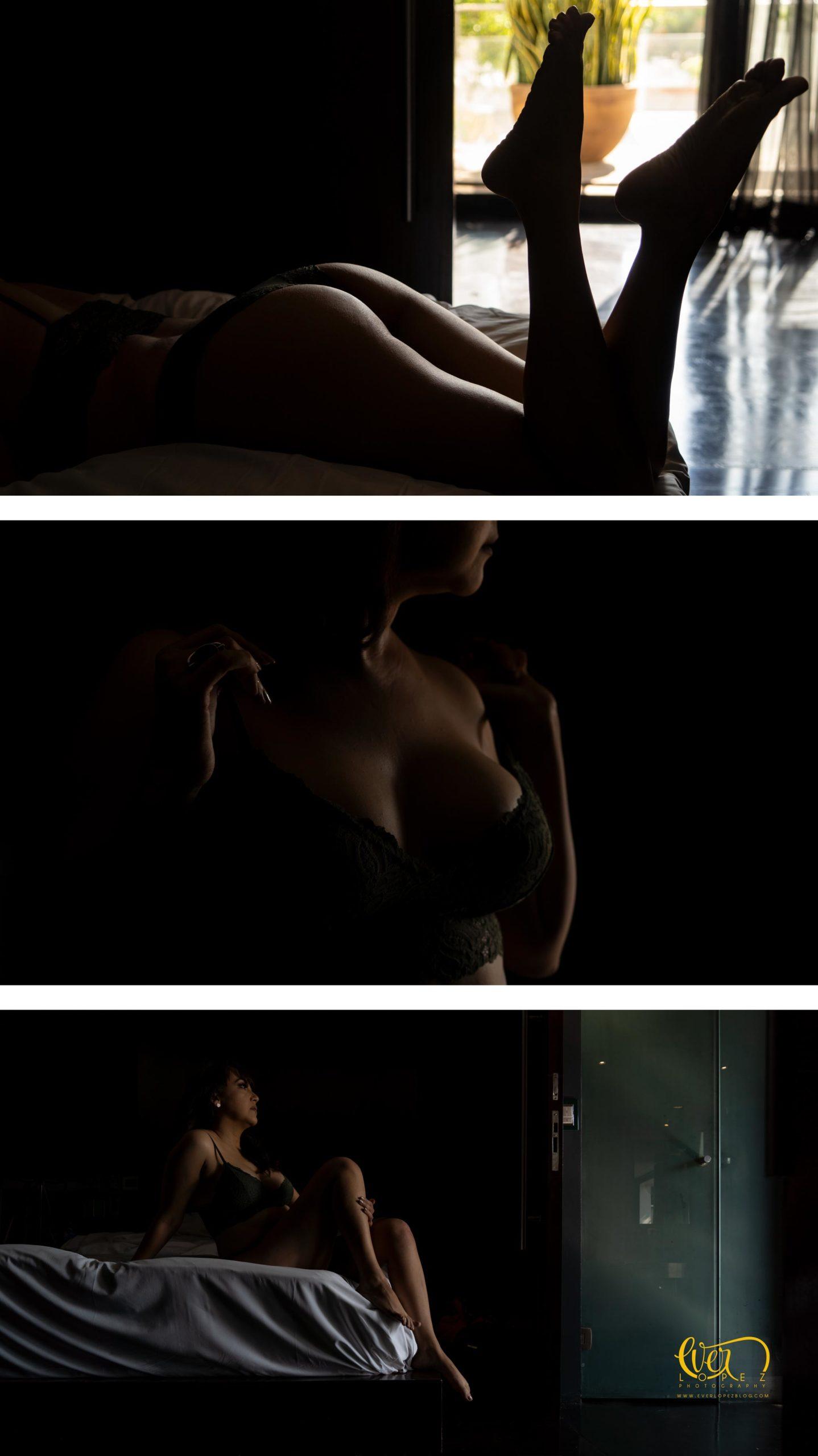 sesión de fotografías sexys en lenceria
